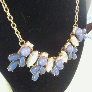 Jewelry - Blue White Statement Classic Necklace